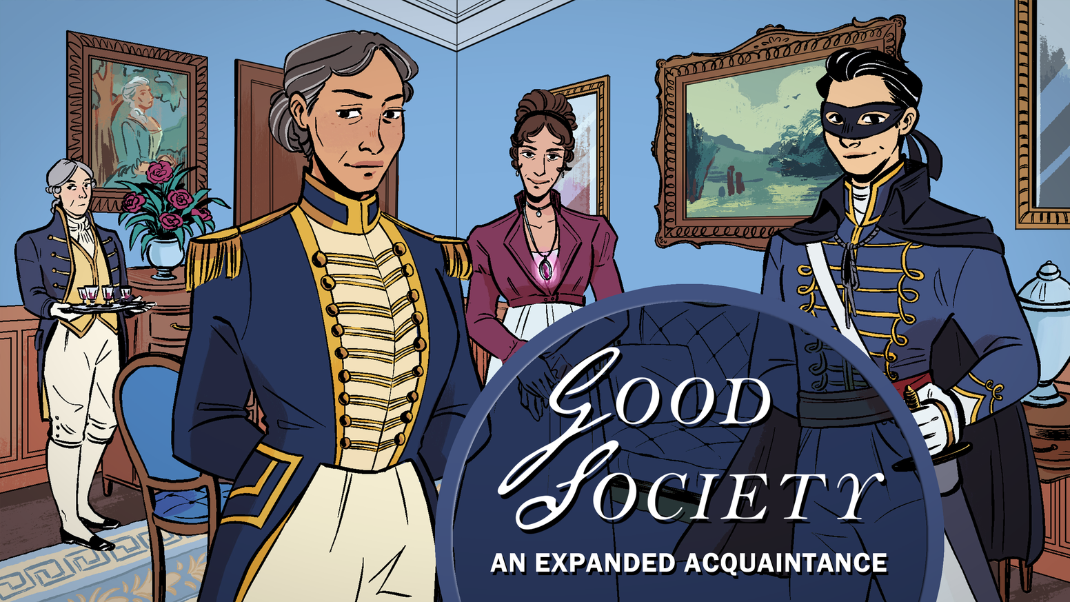 Tell regency tales of magic, masked outlaws, servants & ambition with four expansions for Good Society: A Jane Austen RPG in one book.
