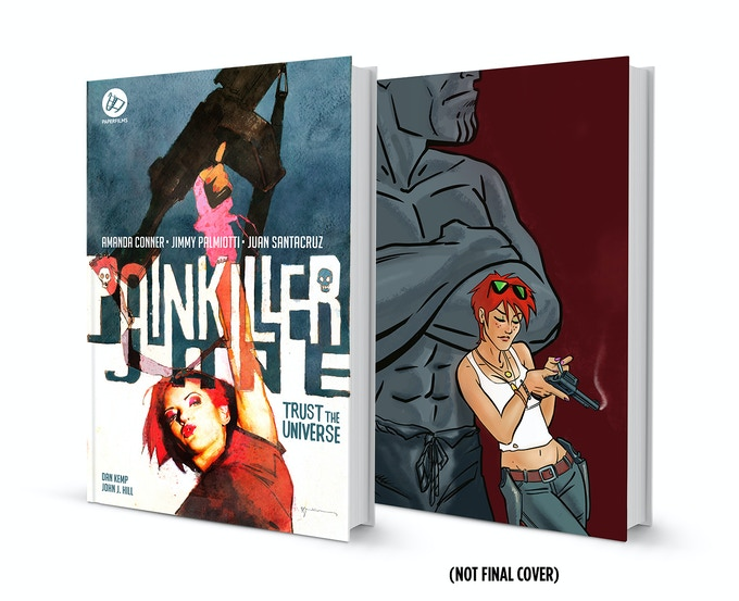 $70 pledge gets you both of the hardcovers, both signed by AMANDA CONNER & JIMMY PALMIOTTI  - the cover to the right is the limited edition Amanda Conner cover. What you see above in not the finished art.
