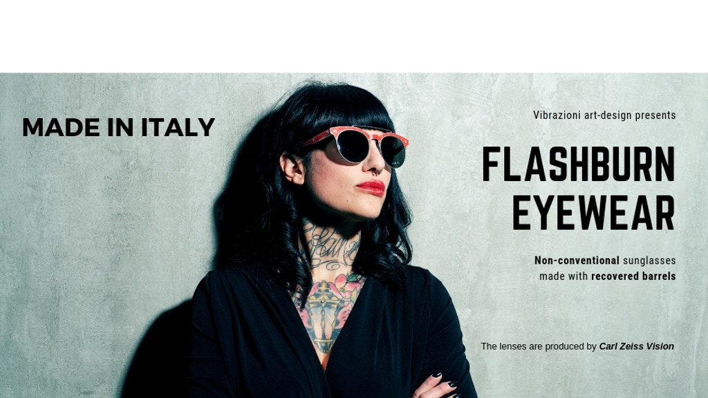 FlashBurn Eyewear: sunglasses made from recycled barrels project video thumbnail