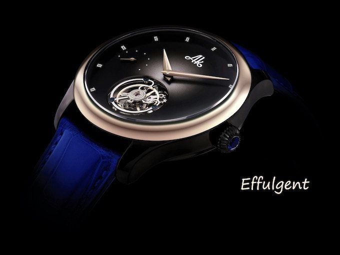 Actual image of the watch, the gold & diamond effect was added to show the overall look of AK735G Effulgent version