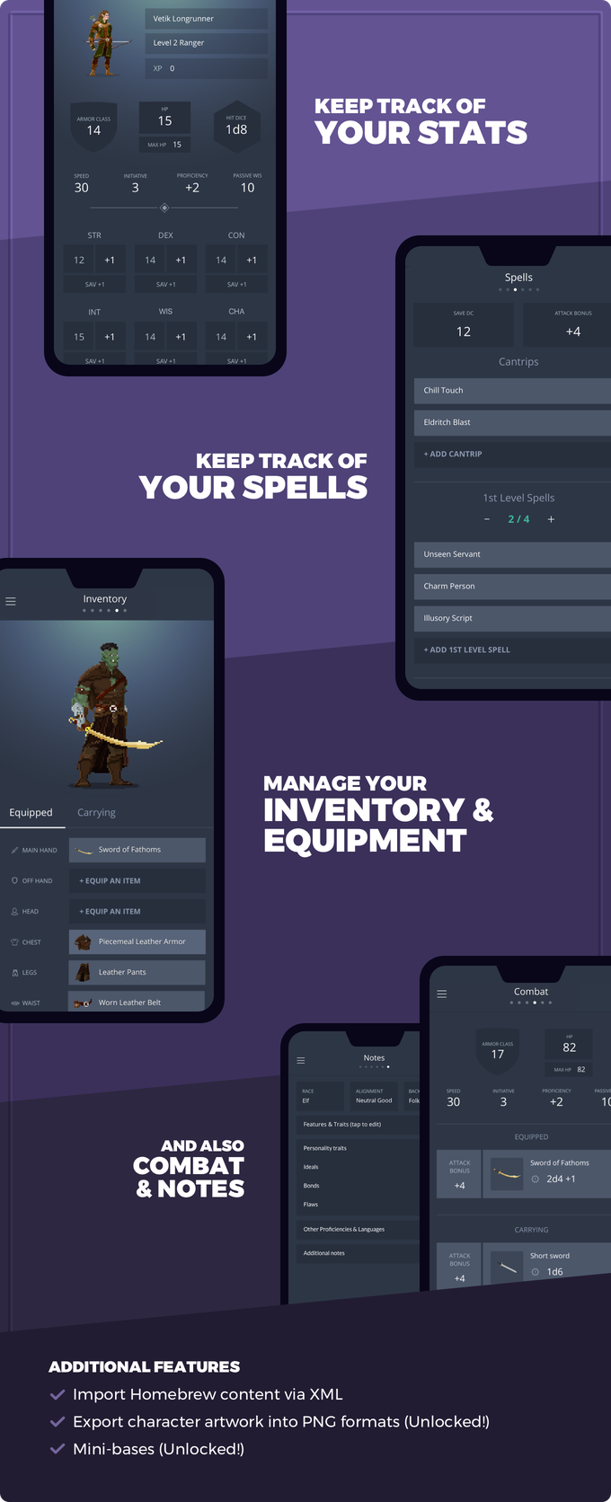 Reroll: Customize your DnD characters in Pixel Art by Team Reroll