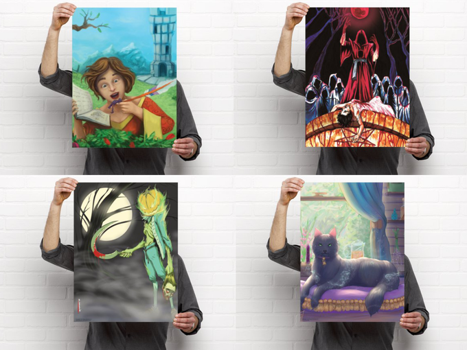 18 by 24 inch posters ~ You'll choose which you want in your backer survey