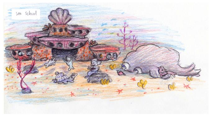 """Sea School Study"" by Esther Samuels-Davis"