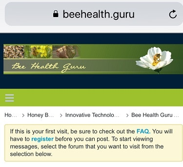 Bee Health Guru online community