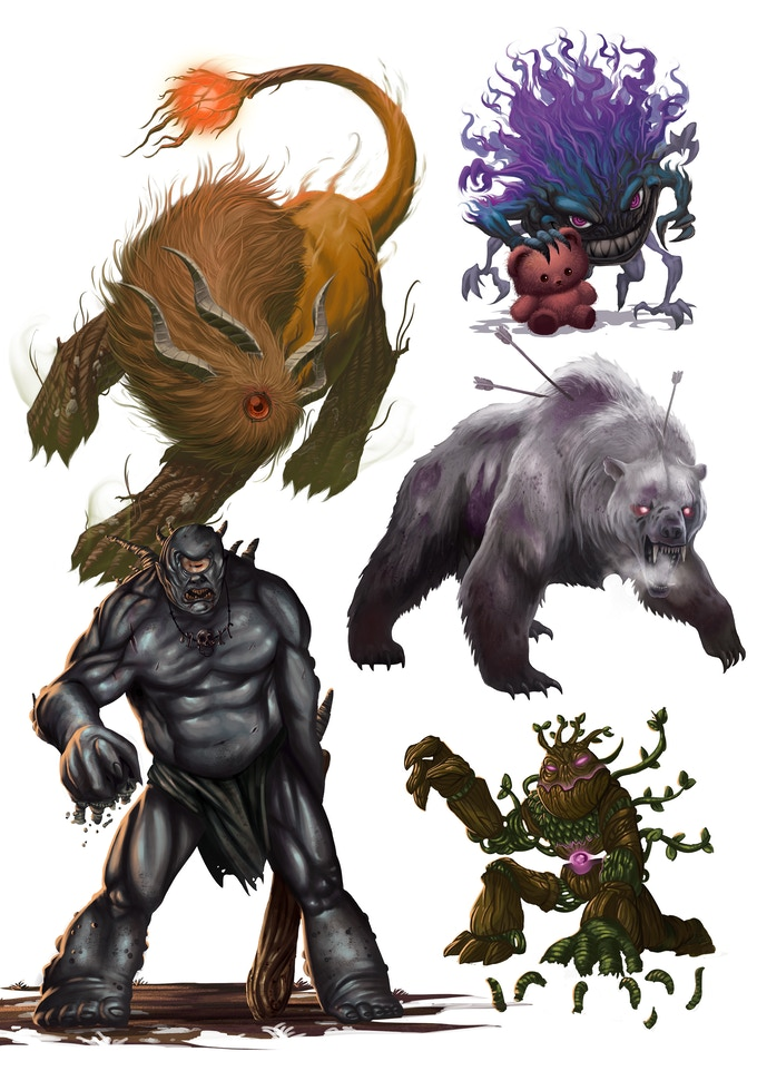 Some of the monsters that you are fighting against