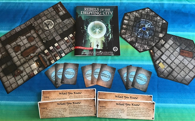 Fully printed version with Adventure Manual, Map Tiles, Spell, Item, and Secret Cards, and Player Handouts.