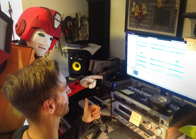 Hotrod with Human Audio Engineer, Greg Harrison, in the studio.