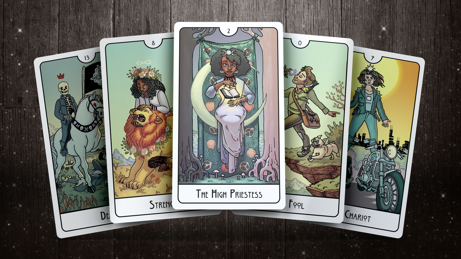 A modern 78-card Tarot deck in the Rider-Waite-Smith tradition.