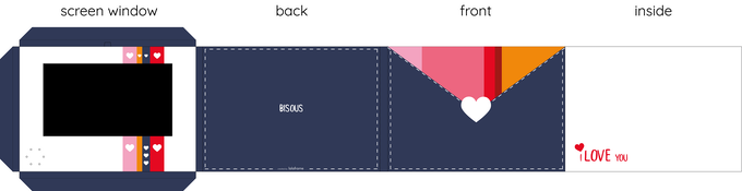 Card originally designed flat in Illustrator and tested for printing and folds.