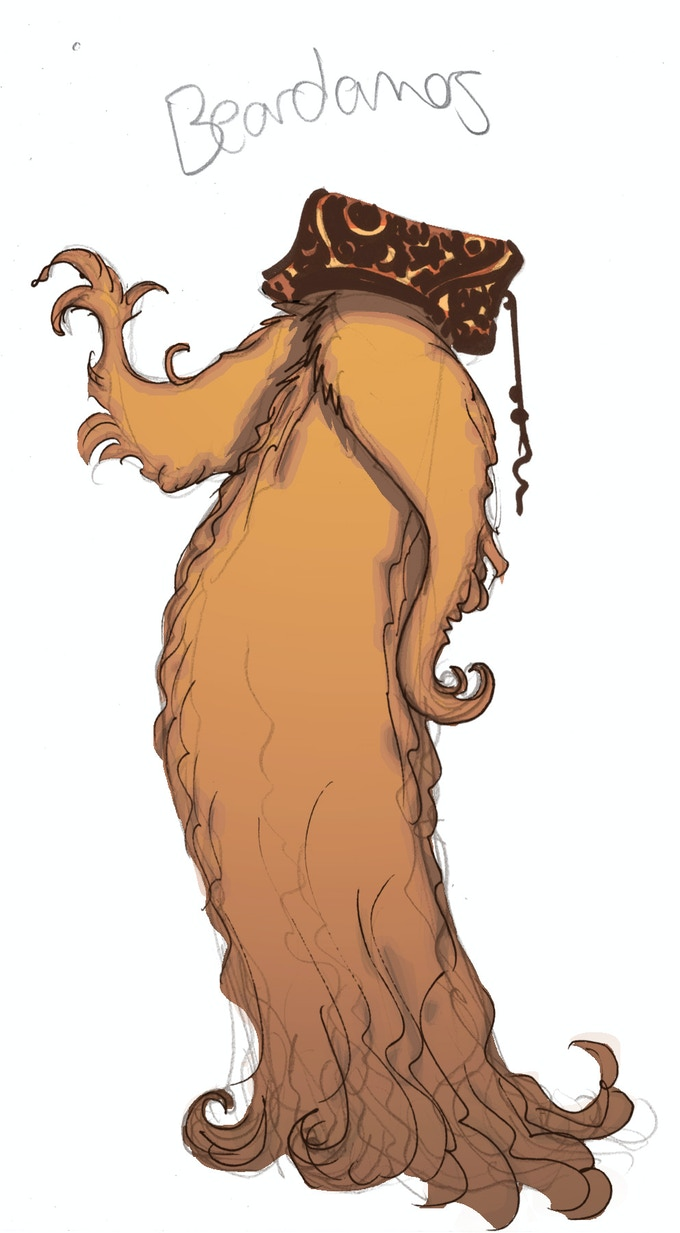 """Hi, I'm Beardamos. I was on the face of Ouroboros's court wizard until he got poisoned and I had to stand on my own two feet--or collection of follicles anyway."""