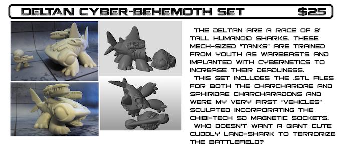 CHIBI-TECH SD : MODULAR MECHA ( STL) FILES by David Lee Seymour