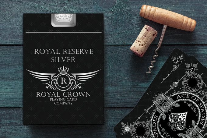 Royal Reserve Silver Deck with Silver Foil Box Seal - Reserved for Backers who hold a Key to the Wine Cellar.