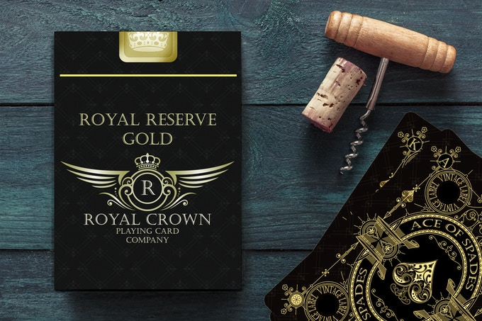 Royal Reserve Gold Deck with Gold Foil Box Seal - Reserved for Backers who hold a Key to the Wine Cellar.