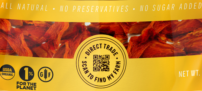 Know the story of your fruit. Follow its journey across the world with this QR code!