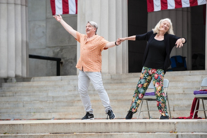 Chet Walker and Ellen Graff in REVIVAL 2017  at Grants Tomb.   Photo by Meg Goldman