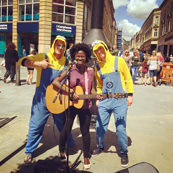 Busking in Bath :) ...2015