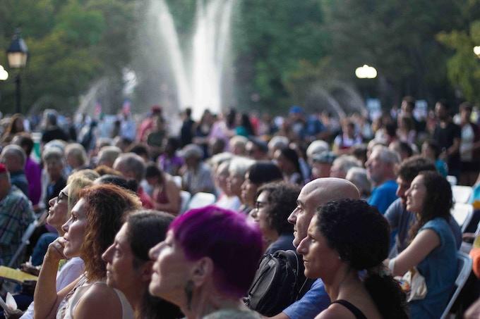 Washington Square Park, Garibaldi Plaza - all of us! Photo by Talya Charef