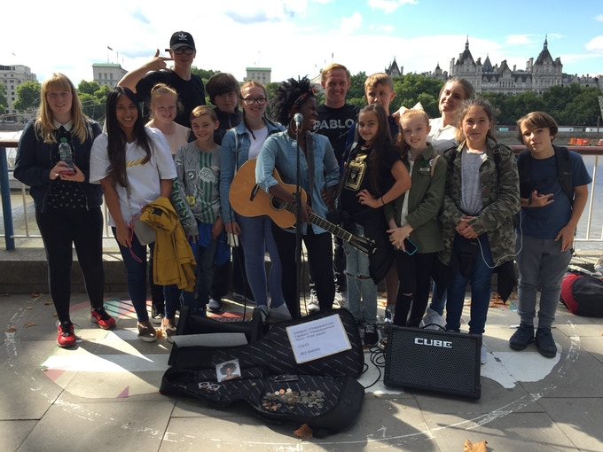 Busking Southbank London eye... :) 2017