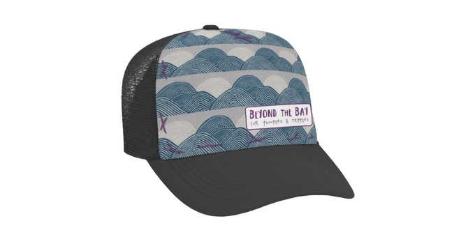 "Beyond the Bay cap by Blowfish, available in 3 designs and multiple sizes with our ""Tumpers & Trippers"" reward"