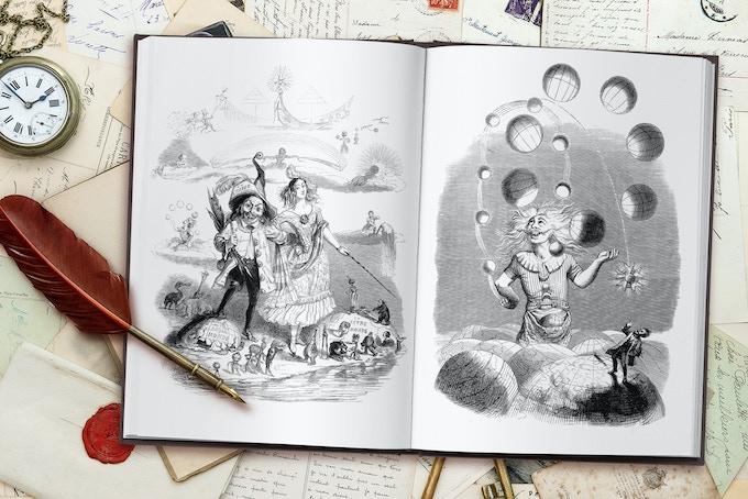 """Un autre monde"" / ""Another world"" /  wood & steel engravings"