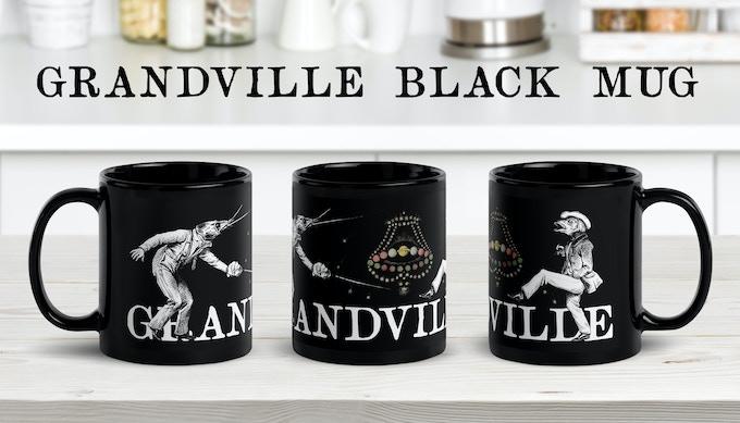 "The ""Grandville Black Mug"" / 11OZ, 325ml / ceramic, dishwasher save."