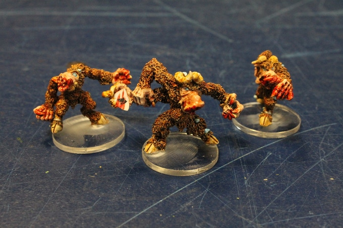 Beastman Berserkers painted by Mike Barker