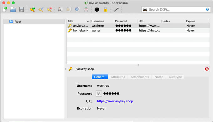 KeePassXC manages all your passwords. AnyKey protects them.