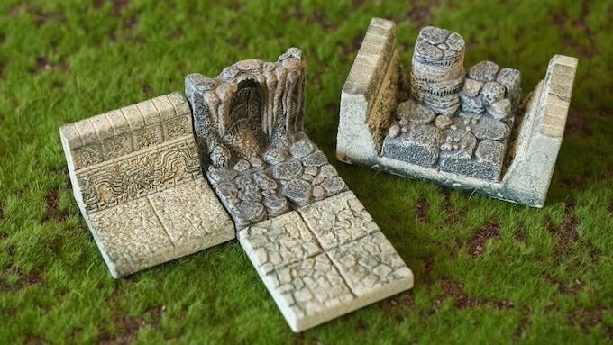 El Dorado Tiles are compatible with dwarven forge tiles.