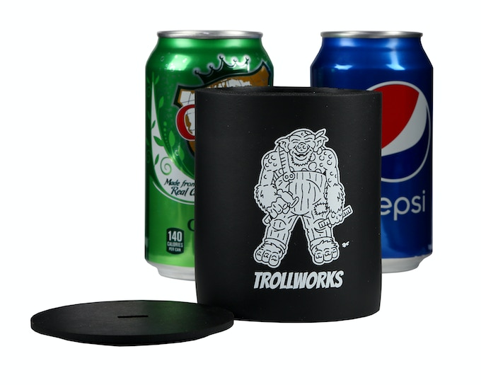 Can Koozie with lid removed