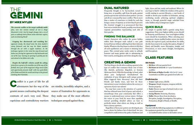 A Touch More Class: 9 New 5th Edition Classes by Morrus