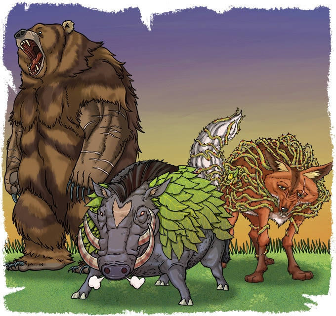 Wolves and Bears and Boars OH MY!