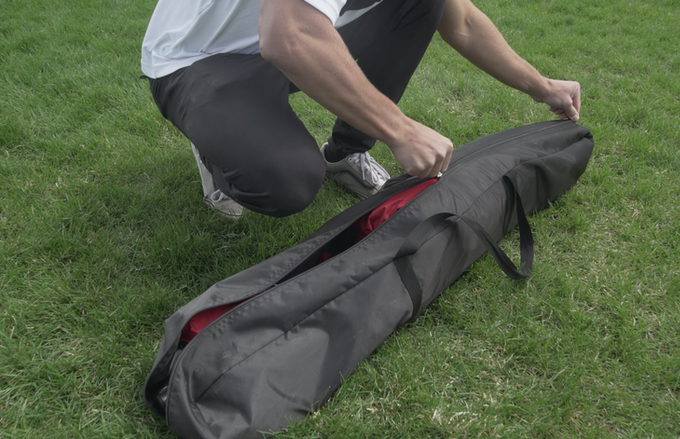 The Tammock packs away in an easy to carry bag.
