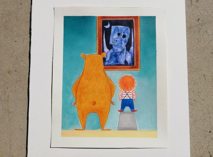 Una delle tavole originali del libro - Artoo, Margherita e l'Angelo Richiedente di Paul Klee