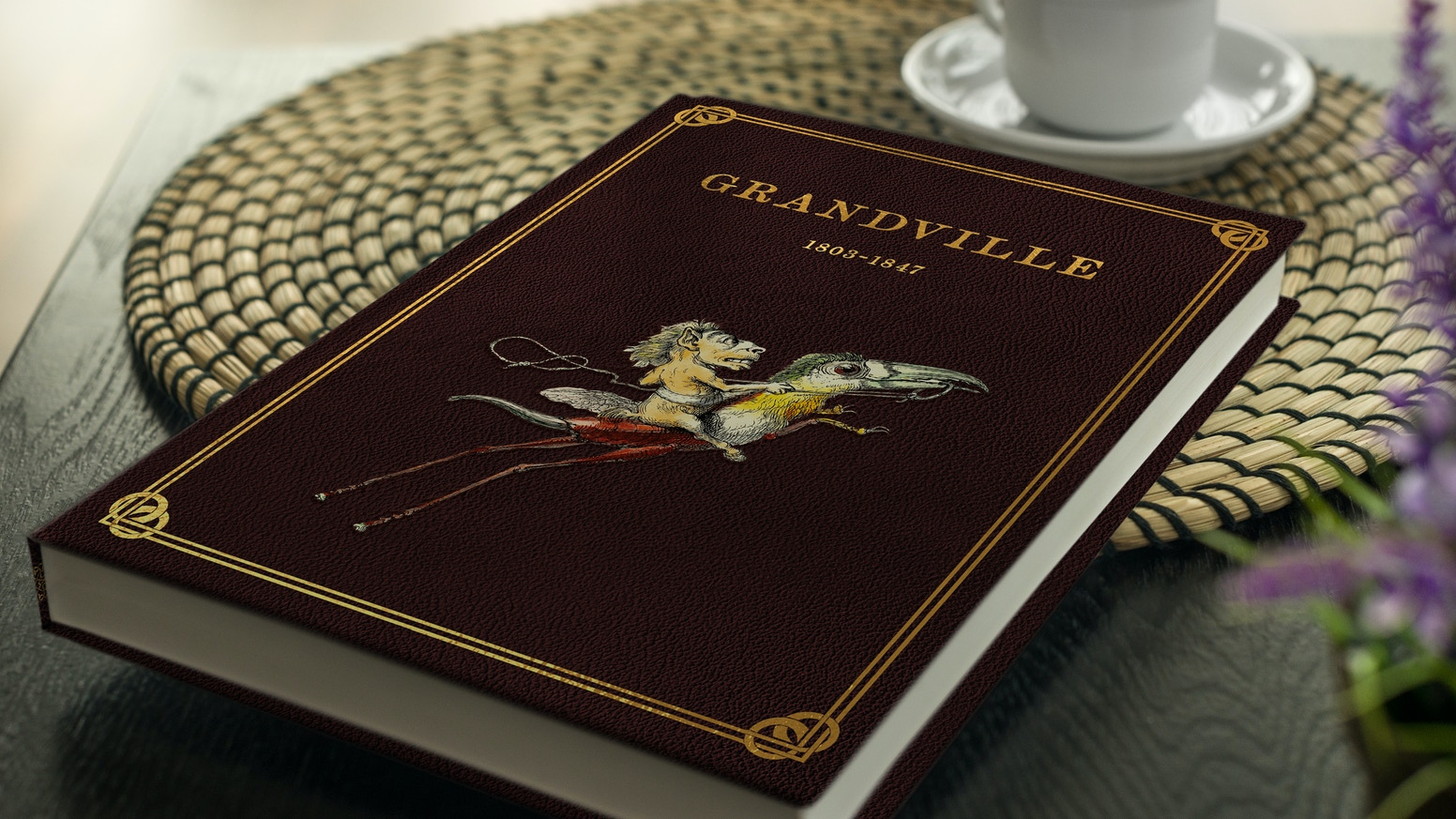 The unbelievable, fantastic Illustrations of J.J. Grandville 1803-1847, a journey through his life. Now on 180 pages, Hardcover Book!