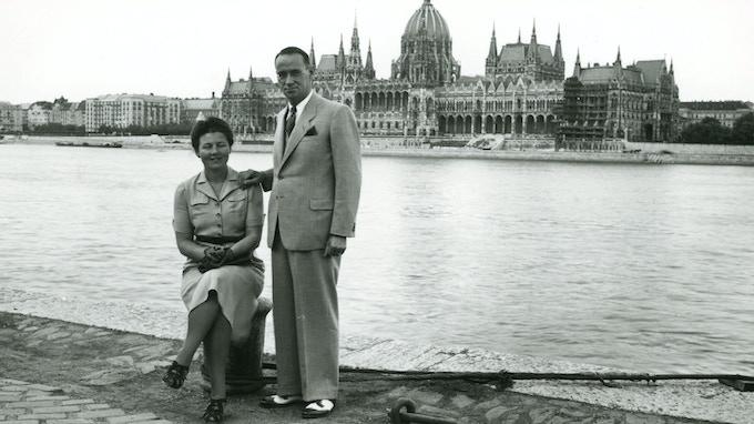 Carl and Gertrud Lutz in Budapest – Bildquelle «Archiv für Zeitgeschichte ETH Zürich/Agnes Hirschi».