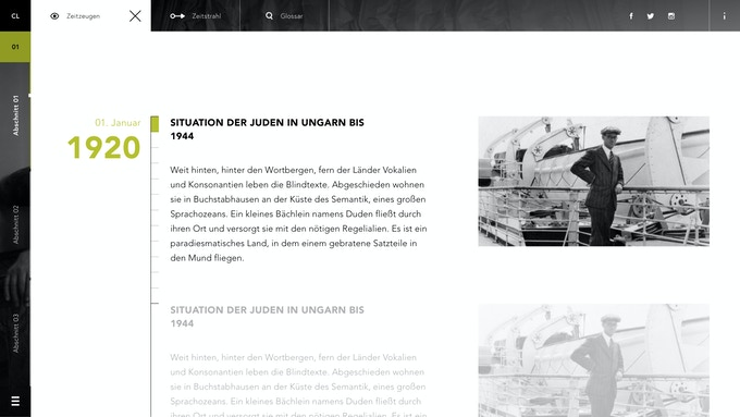 Prototype of the web documentary – Bildquellen «Archiv für Zeitgeschichte ETH Zürich/Agnes Hirschi»