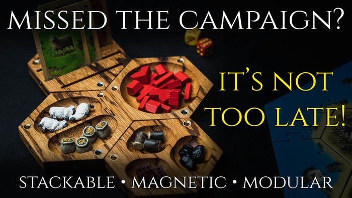A Fun, Modular, Magnetic System for Organizing All Your Board Game & RPG Components, Beautifully Crafted from Natural Materials.  Now available for Pre-order!