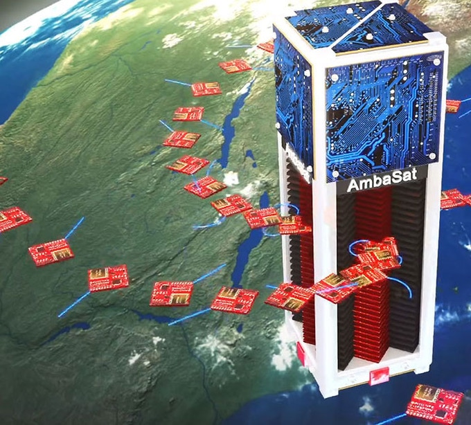 AmbaSat-1 Release from Cubesat