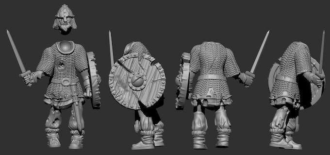 Preview of Viking Undead Sculpts