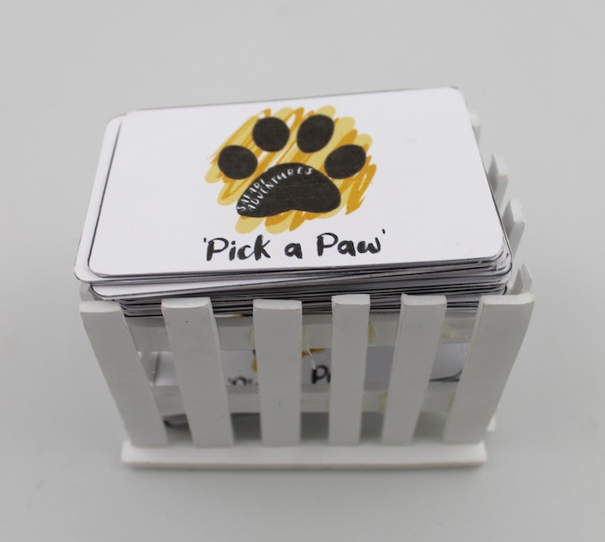 24x 'Pick a Paw' cards & Fence enclosure box.