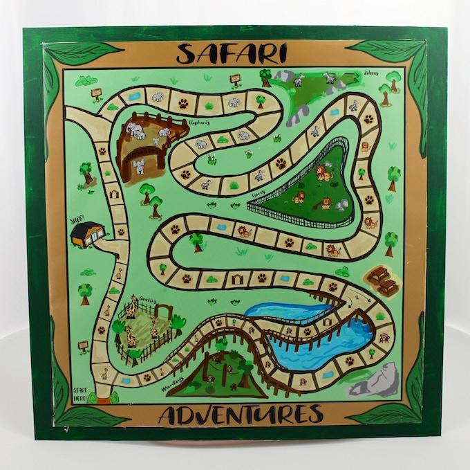 The Safari Adventures Board.