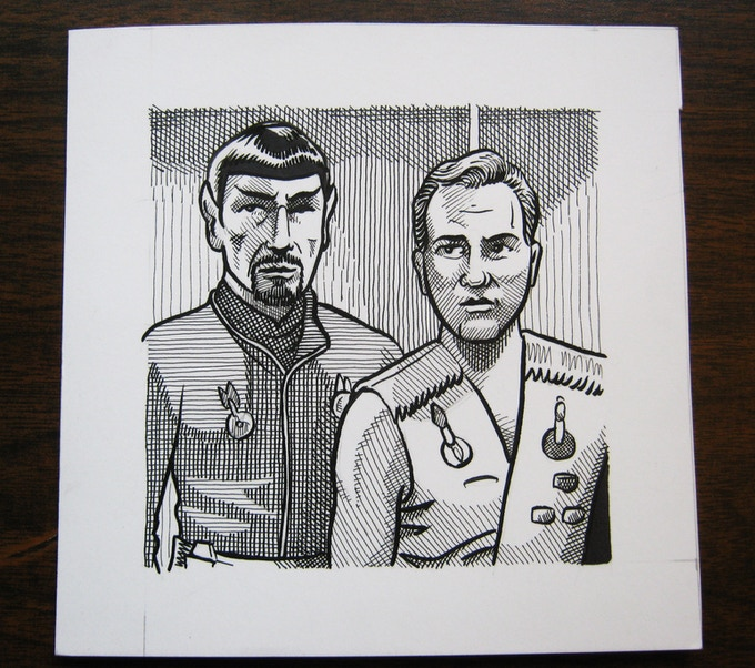 (ART10) Mirror Spock and Kirk   *SOLD!!!*