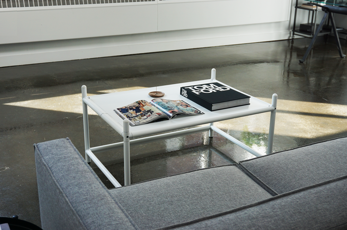 4-in-1 Coffee Table can be turned into two benches that can be stacked to become a shoe rack.