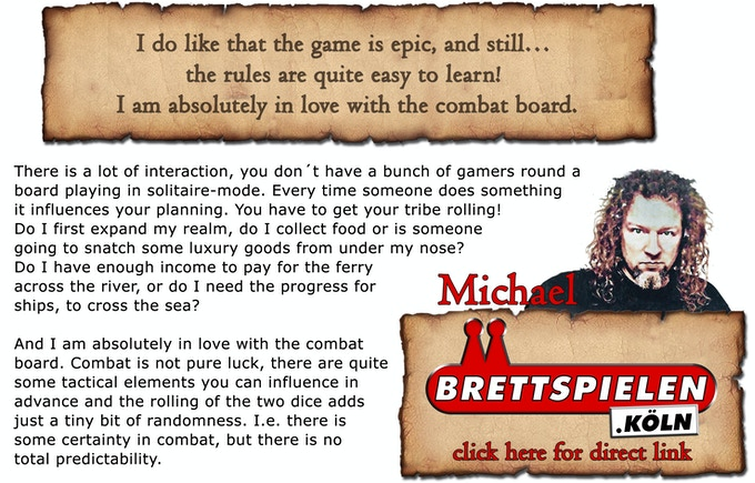 Early review by Michael from Brettspielen.Köln in german and english