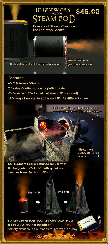Miniature Steam Machine For Tabletop Games & Terrain Pieces