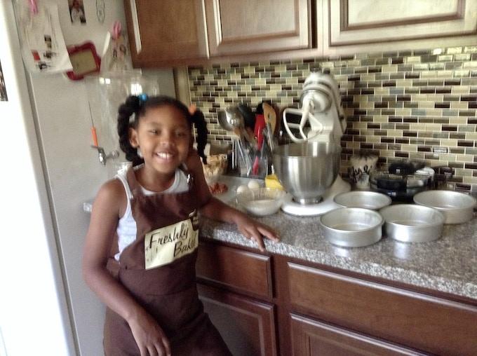 Heavyn learning to make coffee cake