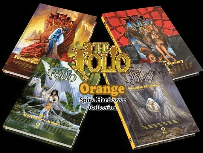 4 of the 5 incredible books available in the hardcover series.