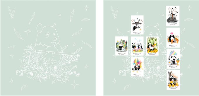 Peaceful Panda Tarot / Altar Cloth Mockup (still being finalized - subject to minor design changes)