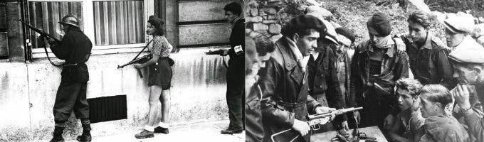 Women fought alongside the men in the resistance