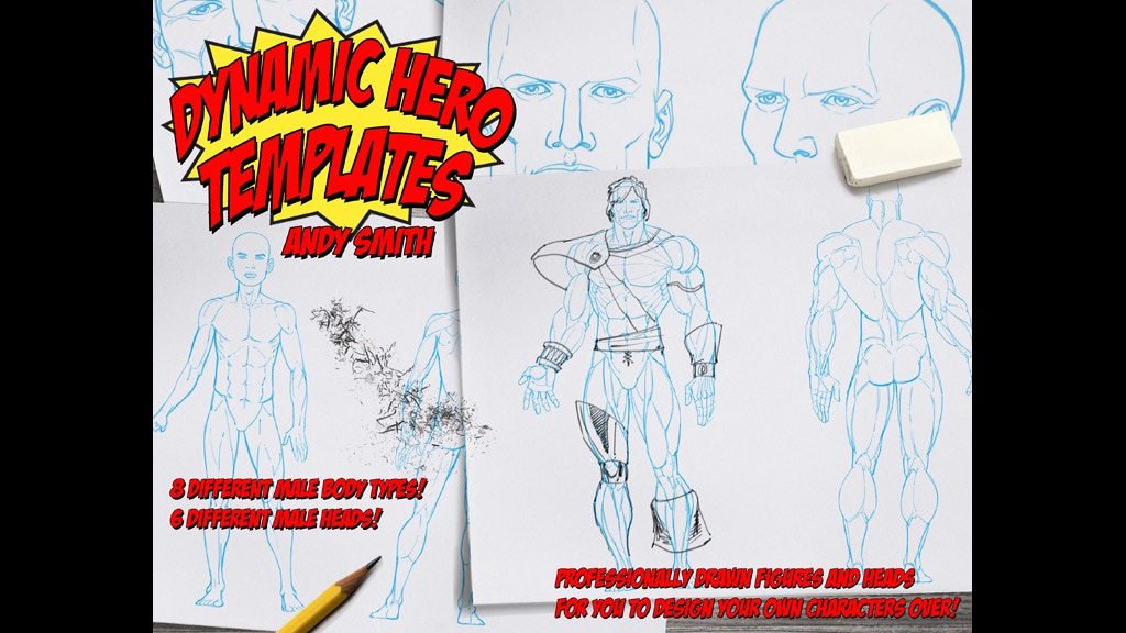 """""""Dynamic Hero Templates"""" by comic book artist Andy Smith project video thumbnail"""